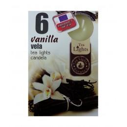 6 T-LIGHT CANDELE TEALIGHT ESSENZA NATURALE 4 CM CANDELA PROFUMATA VANIGLIA