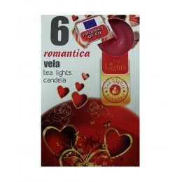 6 T-LIGHT CANDELE TEALIGHT ESSENZA NATURALE 4 CM CANDELA PROFUMATA ROMANTICA