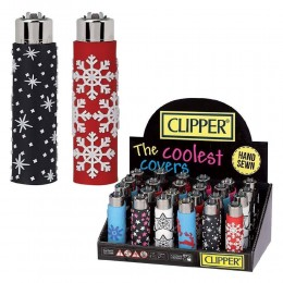 6 ACCENDINI CLIPPER A GAS POP XMAS REGULAR RICARICABILE GOMMATO GRANDE NATALE