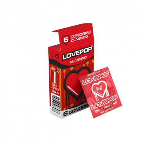 144 PRESERVATIVI LOVEPOP PROFILATTICO CLASSICO KONDOM IN CONFEZIONE DA 6