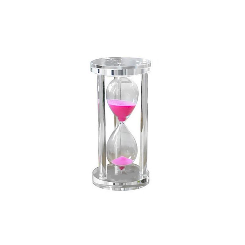 Clessidra in vetro con sabbia rosa 10cm da tavolo arredo fermacarte - Clessidra da tavolo ...