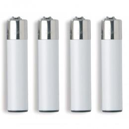 1 ACCENDINO CLIPPER A GAS LARGE SOLID ARANCIONE ORANGE WHITE RICARICABILE