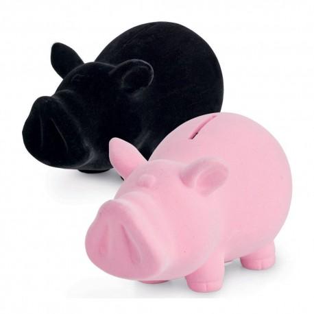 SALVADANAIO CHILLING TIME SMALL PIG PORCELLINO MAIALE MAIALINO PICCOLO NERO