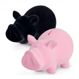 SALVADANAIO CHILLING TIME SMALL PIG PORCELLINO MAIALE MAIALINO PICCOLO ROSA