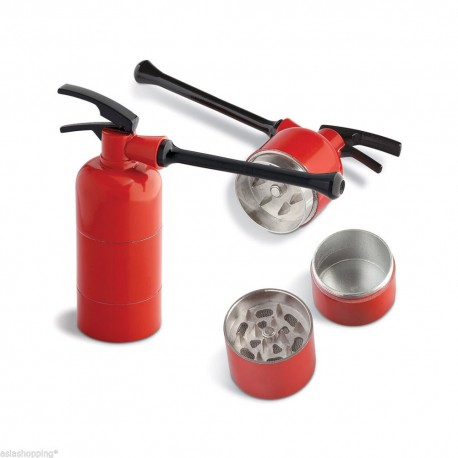 GRINDER PIPA PER TABACCO CHILLING TIME FIRE PIPE METALLO 3 PARTI 3 CM PIPETTA