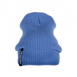 CAPPELLO THE BULLDOG LANA TAGLIA UNICA FLOW BEANIE BLU BERRETTO BULCAP014