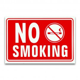 1 CARTELLO TARGA VIETATO FUMARE DIVIETO NO SMOKING SEGNALETICA PVC 20 X 30 CM