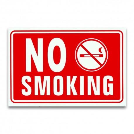 CARTELLO TARGA VIETATO FUMARE DIVIETO NO SMOKING SEGNALETICA PVC 20 X 30 CM