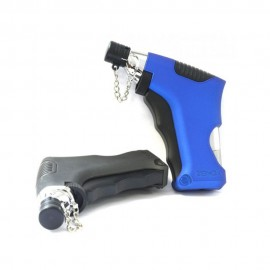 ACCENDINO TURBO ANTIVENTO ZENGA COZY TORCH JET A GAS RICARICABILE ZT-20 BLU