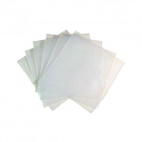 100 BUSTINE PORTA CD DVD CUSTODIA PLASTICA TRASPARENTI CON ALETTA RICHIUDIBILE