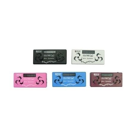 MINI SPEAKER CASSA PORTATILE LETTORE MP3 RADIO FM PER SMARTPHONE SCHEDA SD + CUFFIE + BATTERIA RICARICABILE