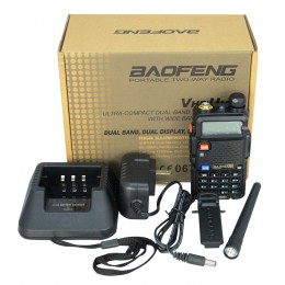 RICETRASMITTENTE VHF/UHF BAOFENG UV-5R Dual BAND PMR RADIO 136-174 400-520 MHZ WALKIE TALKIE 4W