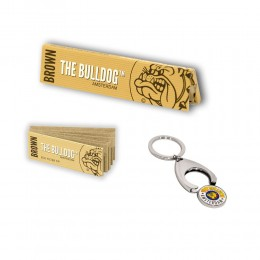 THE BULLDOG 165 CARTINE LUNGHE KS BROWN 200 FILTRI CARTA ECO PORTACHIAVI