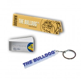 THE BULLDOG 165 CARTINE LUNGHE KS BROWN 200 FILTRI CARTA TIPS PORTACHIAVI