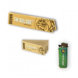 THE BULLDOG 165 CARTINE LUNGHE KS BROWN 200 FILTRI CARTA ECO ACCENDINO