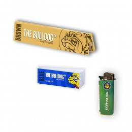 THE BULLDOG 165 CARTINE LUNGHE KS BROWN 200 FILTRI CARTA BLU ACCENDINO