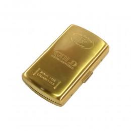 PORTASIGARETTE GOLD CIGARETTE BOX ASTUCCIO METALLO PER 12 SIGARETTE COLORE ORO