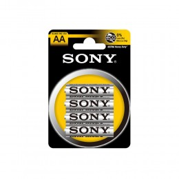 KIT 96 BATTERIE PILE STILO SONY LUNGA DURATA AA ZINCO CARBONE R6 1,5V HEAVY