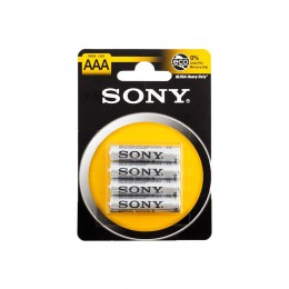 KIT 96 BATTERIE PILE MINI STILO SONY LUNGA DURATA AAA ZINCO CARBONE R03 1,5V