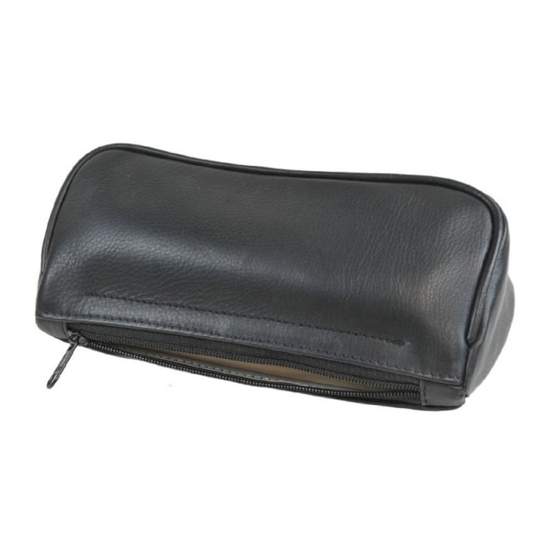 Porta pipe in vera pelle nero benzon borsello astuccio - Porta tabacco pipa ...