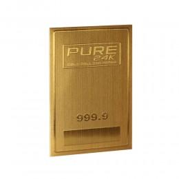 1 CARTINA CORTA IN ORO PURE 24K CARATI 999 GOLD PER SIGARETTE SFUSA