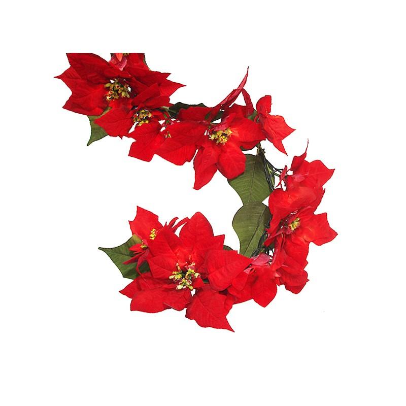 Pianta Stella Di Natale Prezzo.5 Piante Rampicanti 2 M Con 30 Fiori Artificiali Stelle Di Natale F