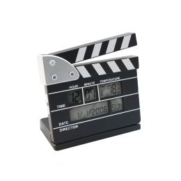 SVEGLIA CIACK CINEMATROGRAFICO OROLOGIO DIGITALE SVEGLIA DATA TEMPERATURA 11 X 11