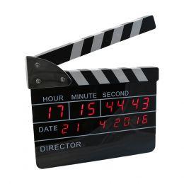 SVEGLIA CIACK CINEMATROGRAFICO OROLOGIO DIGITALE SVEGLIA DATA TEMPERATURA 25 X 23