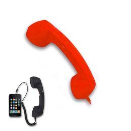 CORNETTA TELEFONO DAKOTA RETRO' VINTAGE RICEVITORE MICROFONOALTOPARLANTE SMARTPHONE ROSSA