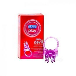 ANELLO PLAY LITTLE DEVIL VIBRANTE DUREX ANALLERGICO MONOUSO