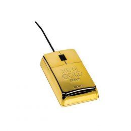 MOUSE LINGOTTO ORO SATZUMA 800 DPI CON CAVO USB IDEA REGALO