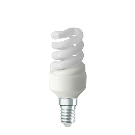 1 LAMPADINA A RISPARMIO ENERGETICO E14 5W LAMPADA A SPIRALE LUCE FREDDA BIANCA EXTRASTAR