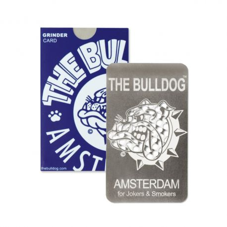 GRINDER PER TABACCO THE BULLDOG CARD PIATTO TRITATABACCO SLIM BULGRI004