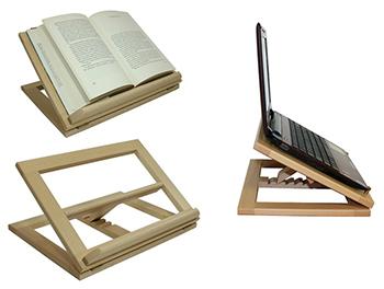 Leggio in legno supporto stand per libro ipad notebook da tavolo 27 x 20 cm ebay - Leggio da letto ikea ...