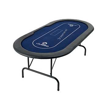 Gambe Metalliche Pieghevoli Per Tavoli.Tavolo Pro Juego Poker Texas Hold Em Pieghevole In Metallo Blu